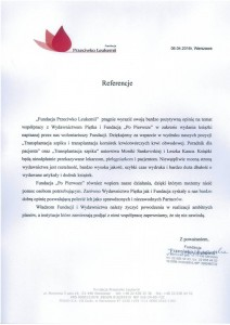 Referencje   Fundacja Przeciwko Leukemii